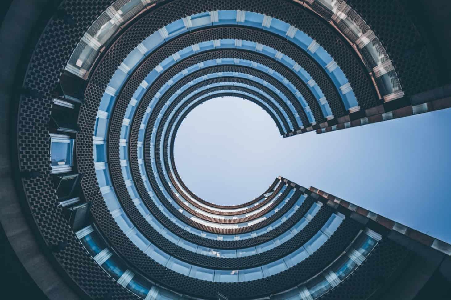 Circular Building and Sky